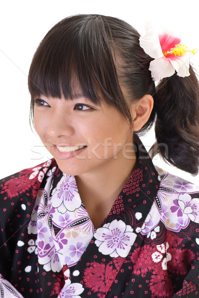 Happy Japaneses girl Stock photo © elwynn