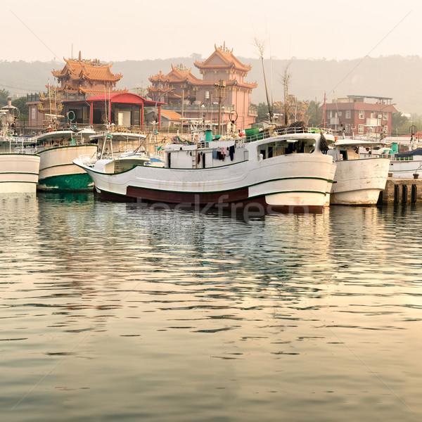 Boats in harbor Stock photo © elwynn