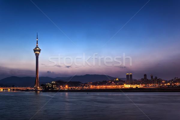 Macao cityscape in night Stock photo © elwynn