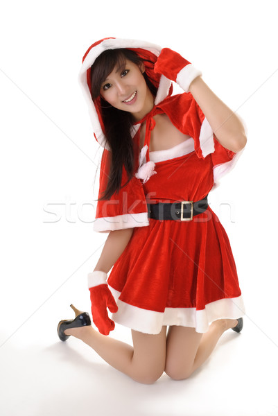 Seductive Christmas beauty Stock photo © elwynn