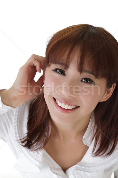 Сток-фото: деловой · женщины · азиатских · портрет · белый