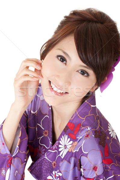 улыбаясь женщина улыбается женщину портрет счастливым Сток-фото © elwynn