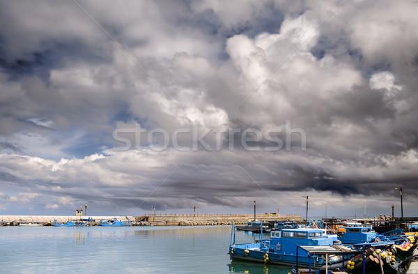 Boats on harbor Stock photo © elwynn