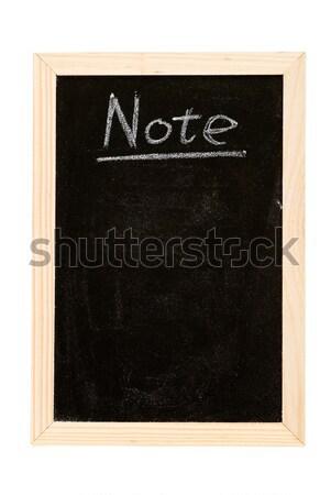 Nota lousa escrita branco palavra textura Foto stock © elwynn