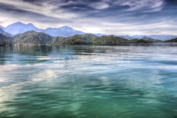 Güzel göl barış yeşil renk doğa Stok fotoğraf © elwynn