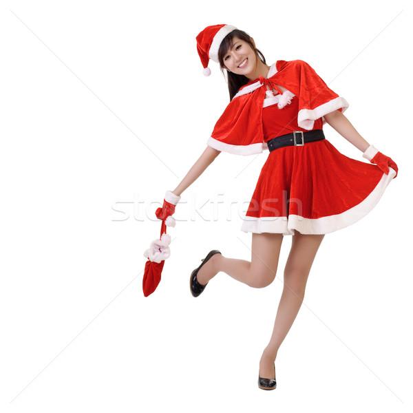 Christmas lady Stock photo © elwynn