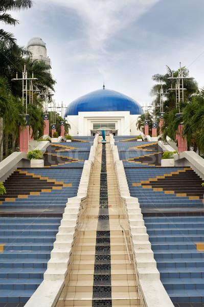青 ドーム 天文学的な 階段 クアラルンプール マレーシア ストックフォト © elwynn