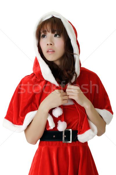 Asia Navidad nina primer plano retrato tristeza Foto stock © elwynn