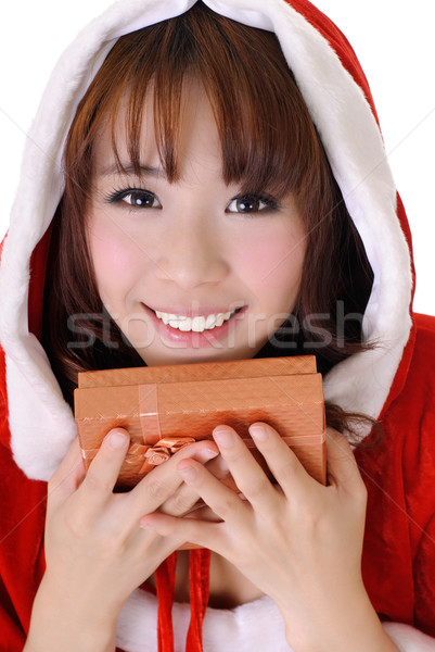 Natale ragazza mezza lunghezza primo piano ritratto Foto d'archivio © elwynn