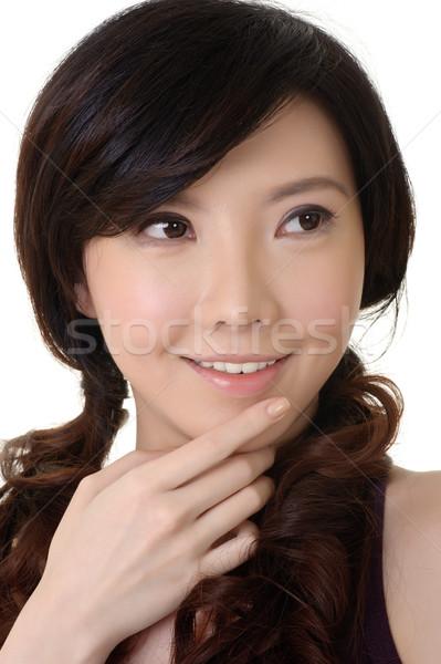 Elegancki asian piękna uśmiechnięty portret Zdjęcia stock © elwynn