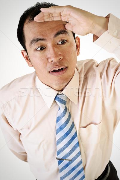 Asian business man look Stock photo © elwynn