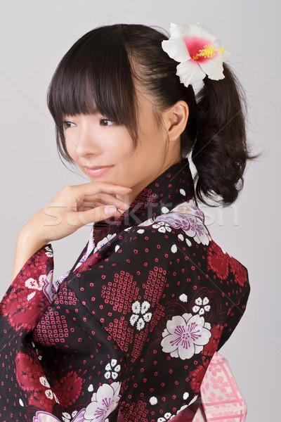 привлекательный азиатских Lady Японский традиционный одежды Сток-фото © elwynn