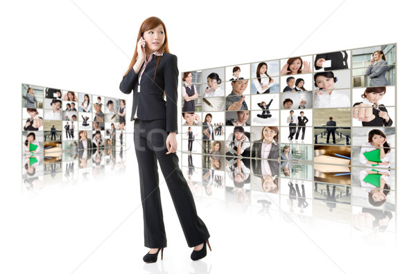Business conferencing and global communications Stock photo © elwynn