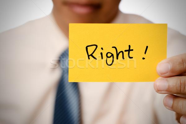 право слов карт желтый бизнеса Сток-фото © elwynn