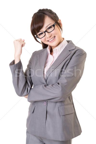 Emocionante asiático negócio mulher jovem retrato Foto stock © elwynn