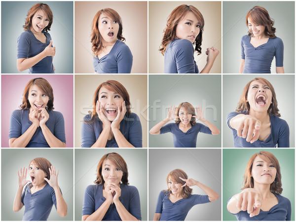 Asian woman face Stock photo © elwynn