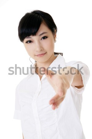 Cute business woman Stock photo © elwynn