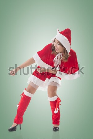Atractivo Navidad dama Asia mujer Foto stock © elwynn