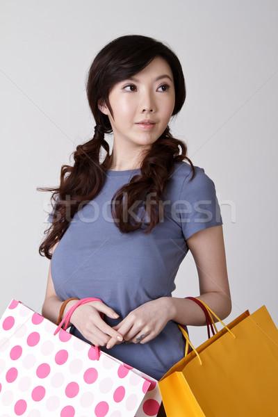 Сток-фото: элегантный · торговых · женщину · китайский · портрет