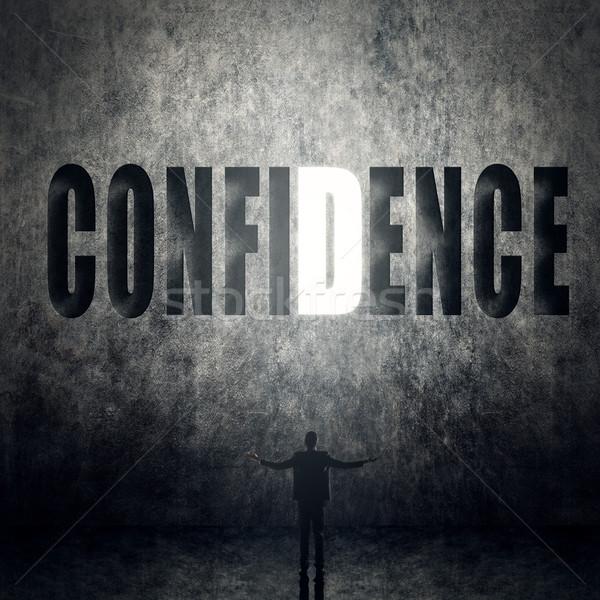 Concept confiance foi crédit homme stand Photo stock © elwynn