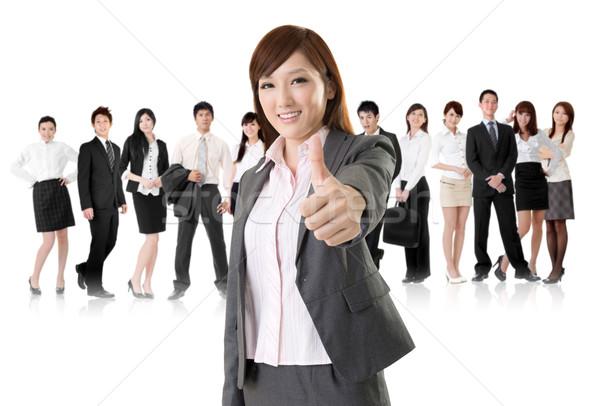 отлично знак улыбаясь бизнеса исполнительного женщину Сток-фото © elwynn