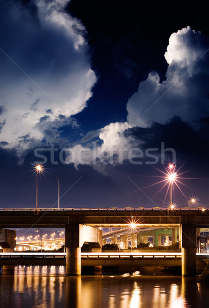 Night scene of bridge Stock photo © elwynn