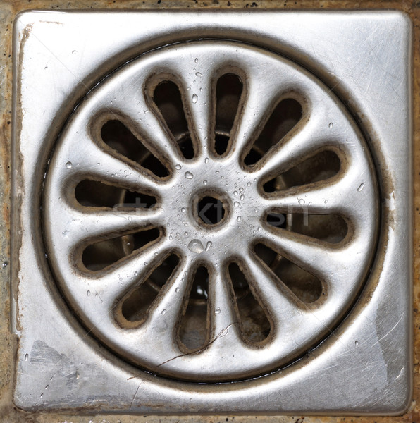 Old shower drain Stock photo © elwynn