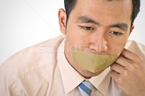 Stil zakenman asian portret tape Stockfoto © elwynn