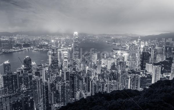 Hong Kong city night Stock photo © elwynn