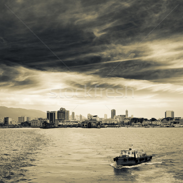 Cityscape of ocean Stock photo © elwynn