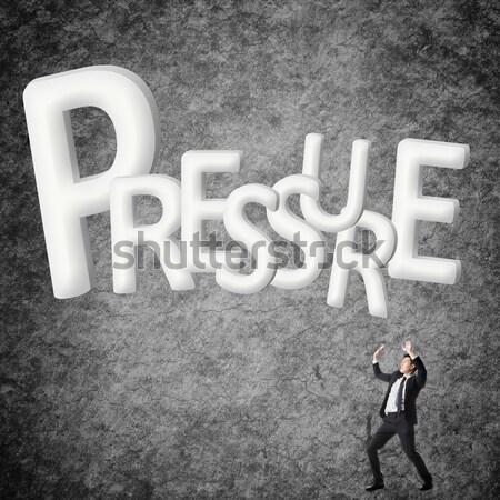 Objetivo elección Asia hombre de negocios texto en 3d pared Foto stock © elwynn