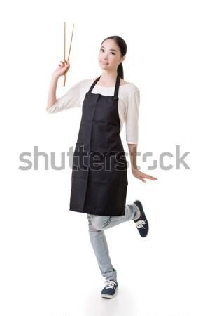 Stok fotoğraf: Mutlu · gülen · iş · kadını · vermek · mükemmel · günah