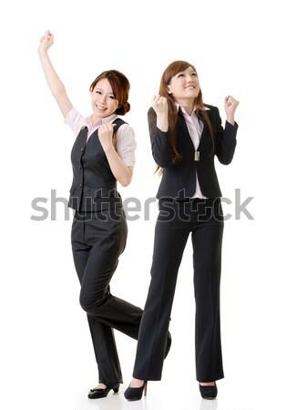 Excitado negocios mujeres retrato grupo de personas Foto stock © elwynn