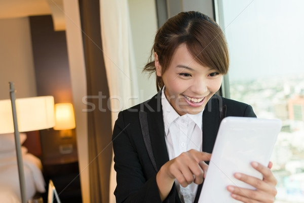 Cheerful Asian business woman Stock photo © elwynn