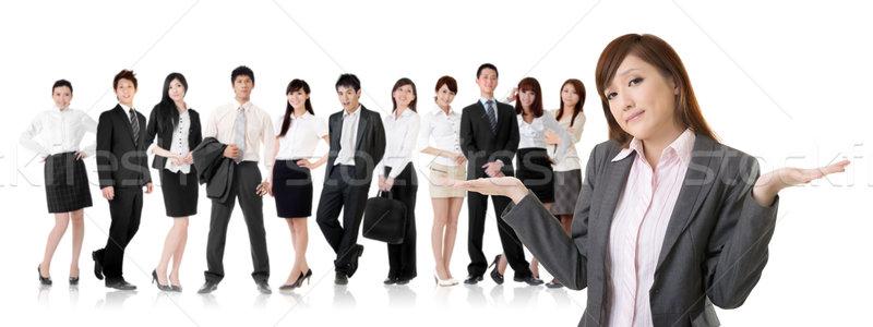 беспомощный молодые бизнеса деловой женщины Плечи команда Сток-фото © elwynn