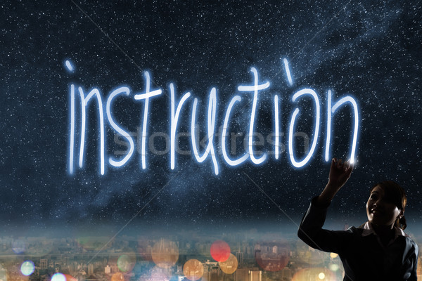 Concept of instruction Stock photo © elwynn