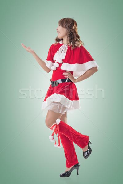 Christmas girl introduce Stock photo © elwynn