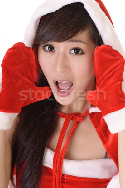 Attractive Christmas lady Stock photo © elwynn