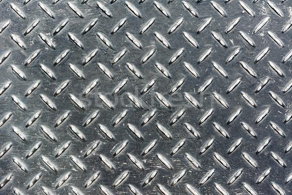 Metaal diamant plaat zilver kleur abstract Stockfoto © elwynn