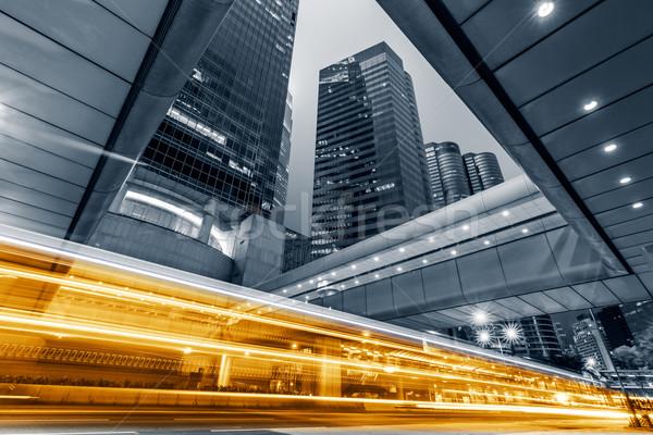 Nowoczesne Night City samochodu świetle Hongkong asia Zdjęcia stock © elwynn