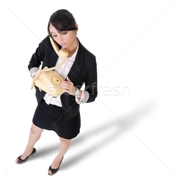 Lonely business woman Stock photo © elwynn