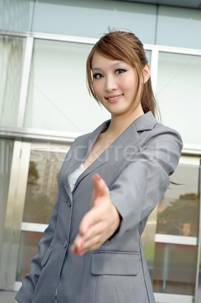 молодые бизнеса менеджера рукопожатие Сток-фото © elwynn