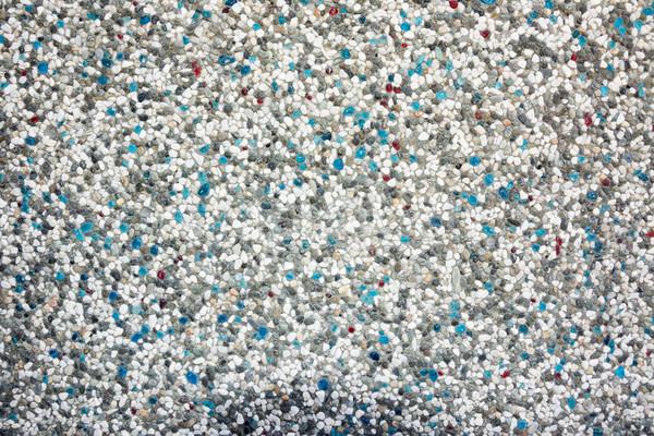 Fal textúra pici kövek színes háttér Stock fotó © elwynn