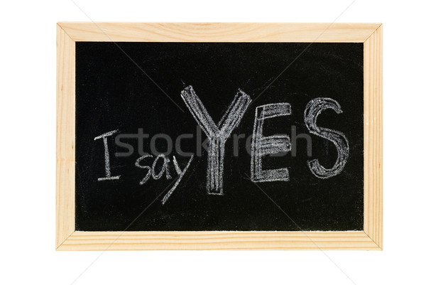 Yes Stock photo © elwynn
