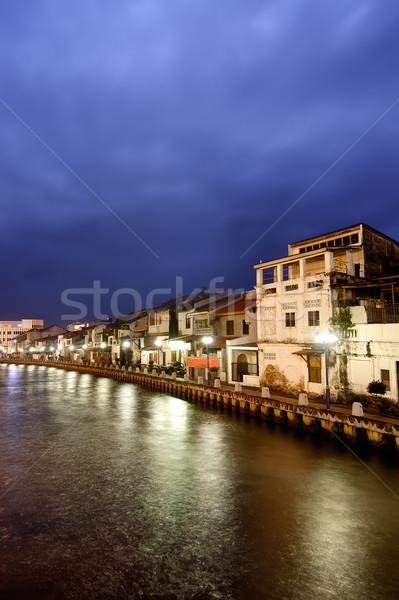 Night City scena spokój Malezja asia niebo Zdjęcia stock © elwynn