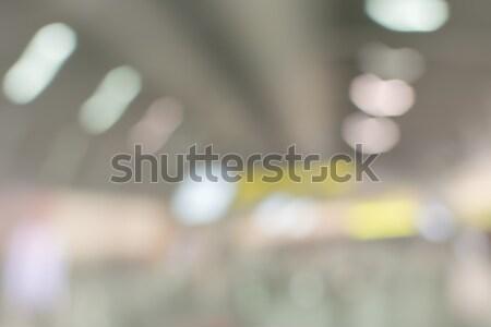 Absztrakt pláza sekély iroda épület város Stock fotó © elwynn