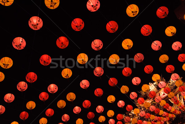 lots of red chinese lantern Stock photo © elwynn