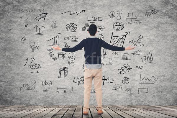 business plan on wall Stock photo © elwynn