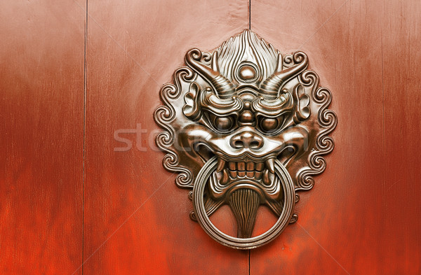 Chinese decoration of bronze lion Stock photo © elwynn