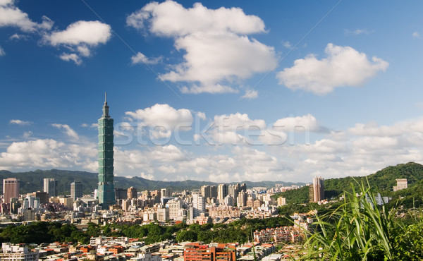 beautiful cityscape of Taipei Stock photo © elwynn